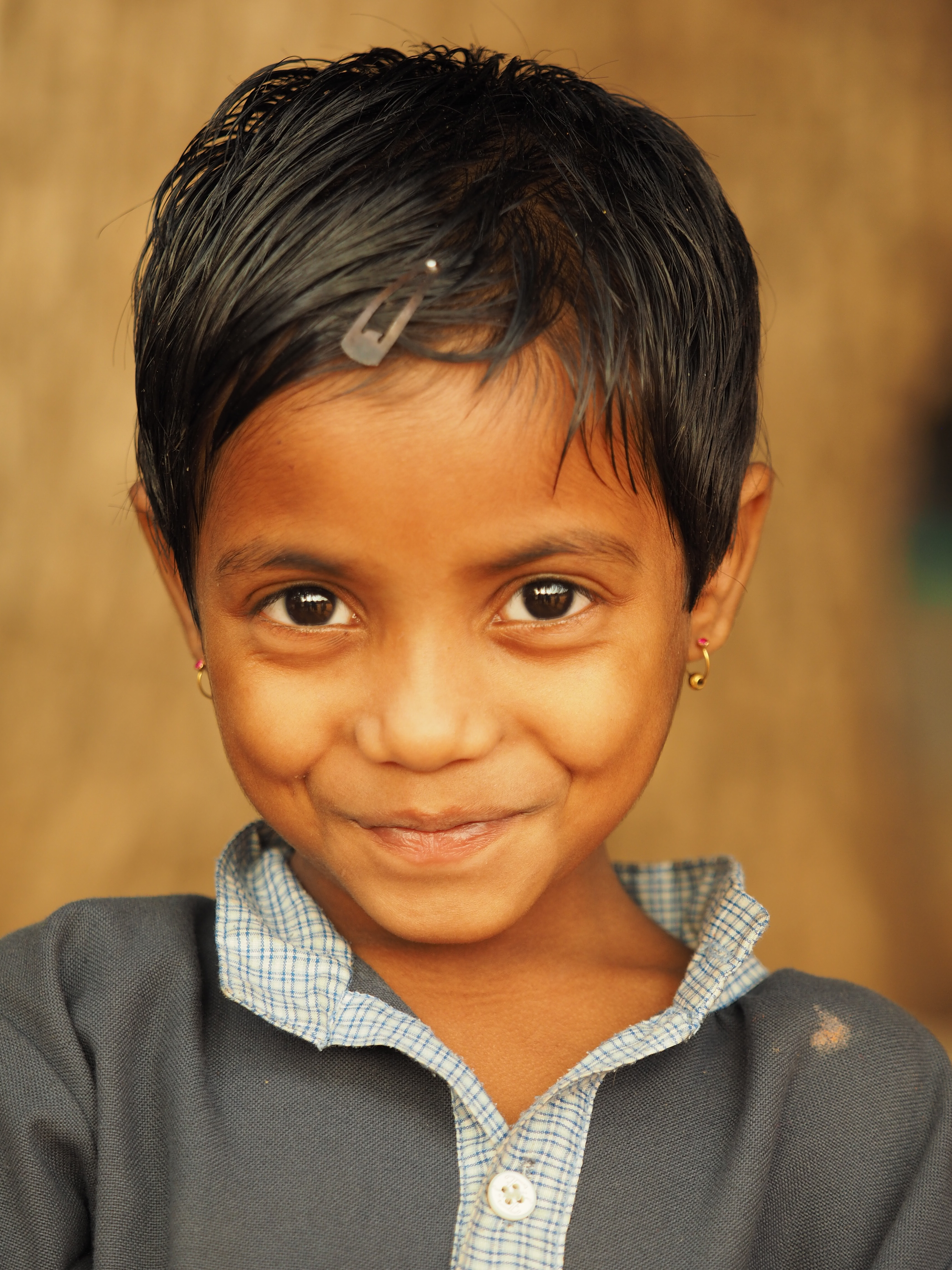 Happy and healthy girl at ASRITHA Rainbow Home in Hyderabad in Southern India.JPG